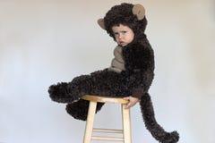 男孩猴子 库存照片