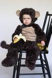 男孩猴子 免版税库存照片