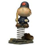 男孩玩偶警察 免版税图库摄影