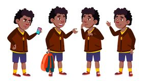 男孩男小学生集合传染媒介 投反对票 美国黑人 逗人喜爱的子项 幸福享受 欢呼,相当 对介绍,印刷品 皇族释放例证