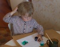 男孩画 免版税库存图片