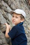 男孩登山人一点 库存图片