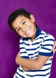 男孩的微笑 免版税库存照片