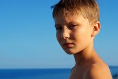 男孩的纵向 免版税库存照片