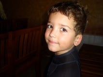 男孩的纵向 图库摄影