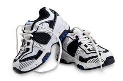 男孩的运动鞋。 免版税库存照片