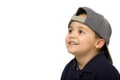 男孩盖帽佩带 图库摄影
