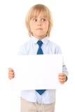 男孩看板卡一点文本 免版税库存图片
