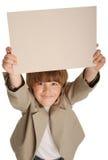 男孩看板卡 免版税库存照片