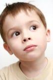 男孩眼睛 图库摄影