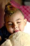 男孩睡觉 库存照片