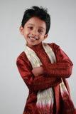 男孩礼服传统佩带 免版税库存照片