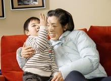 男孩祖母 图库摄影