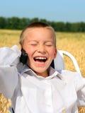 男孩笑 图库摄影