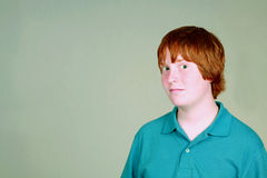 男孩红头发人 免版税库存图片