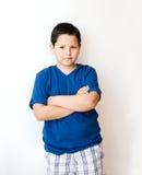 男孩纵向。 图库摄影