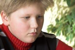 男孩纵向少年 免版税库存图片