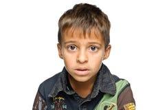 男孩纵向年轻人 免版税图库摄影