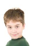 男孩纵向微笑的年轻人 免版税库存照片