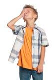 男孩纵向  免版税图库摄影