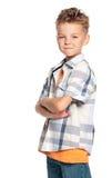 男孩纵向  图库摄影
