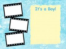 男孩结构其模板 免版税库存照片