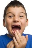 男孩缺少牙 免版税库存图片