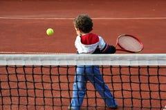 男孩网球 库存照片