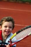 男孩网球 免版税库存图片
