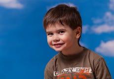 男孩老微笑三年 库存图片