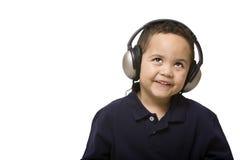 男孩耳机 库存图片