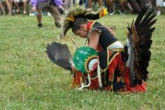 男孩舞蹈演员印地安人 图库摄影