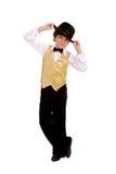 男孩舞蹈演员微笑 库存图片
