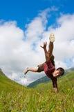 男孩舞蹈 免版税库存照片