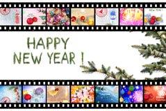 男孩节假日位置雪冬天 庆祝 摘要 免版税库存图片