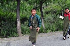 男孩藏语 图库摄影
