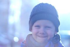 男孩被画的现有量愉快的照片 免版税库存照片
