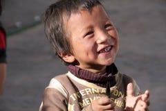 男孩西藏年轻人 免版税库存照片