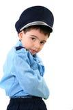 男孩警察服装 库存照片