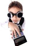 男孩计算器 库存图片