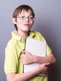 男孩计算机藏品 库存图片