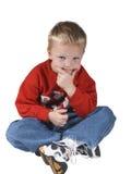 男孩认为 免版税图库摄影