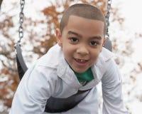 男孩讲西班牙语的美国人使用 免版税图库摄影