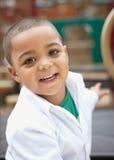 男孩讲西班牙语的美国人小孩 免版税库存照片