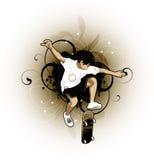 男孩设计滑板 免版税库存照片