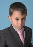 男孩诉讼 免版税库存图片
