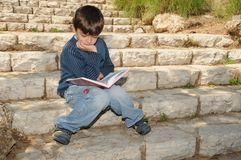 男孩读取 图库摄影