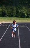 男孩赛跑 库存照片