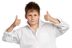 男孩赞许 免版税库存照片