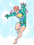 男孩超级英雄 免版税库存图片